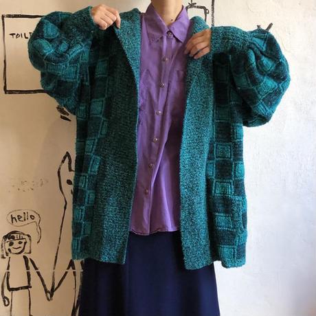 lady's volume  knit cardigan