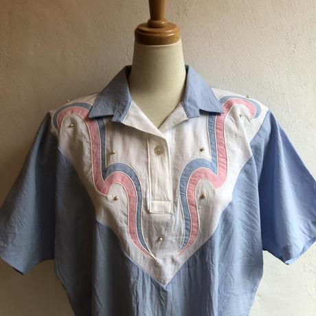 lady's 1980's pastel color lib tops