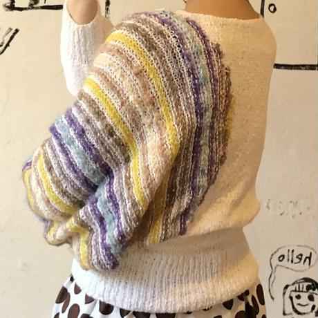 lady's dolman sleeve knit tops