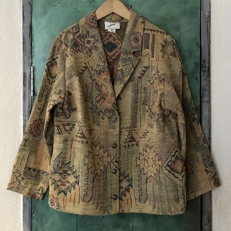 lady's patterned jacket