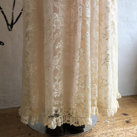 lady's 1970's vintage all lace  maxi length night gown