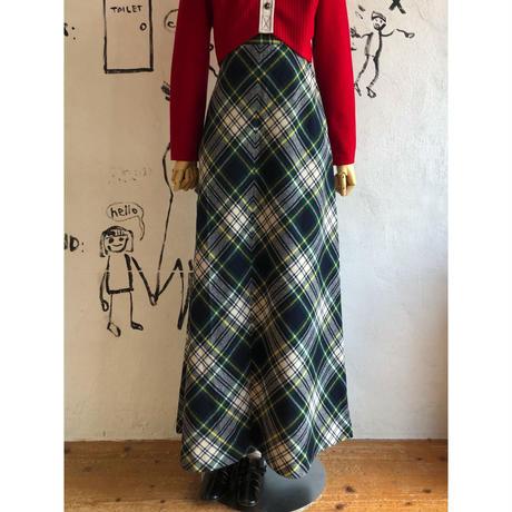 lady's plaid pattern maxi length dress