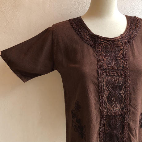 lady's chemical India rayon embroidery tops