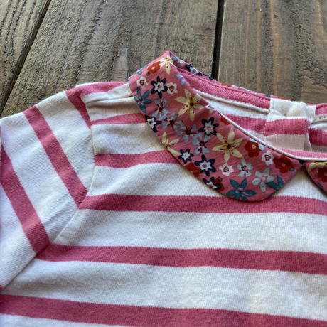 kids flower collar tops(2T/90cm)