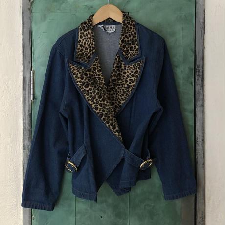 lady's animal pattern color jacket