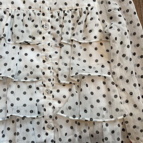 kids dot tiered cardigan(2T/90cm)