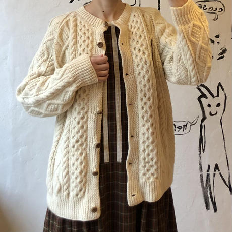 lady's cable knitting cardigan