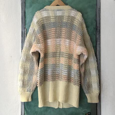 lady's pastel color knit cardigan