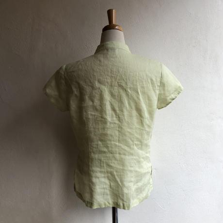 lady's china design linen blouse