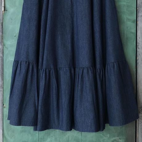 lady's 1970's denim flare skirt