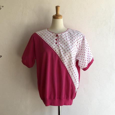 lady's 1980's dot pattern tops