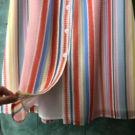 lady's stripe button-down skirt