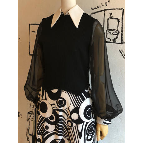 lady's 1970's vintage maxi length dress