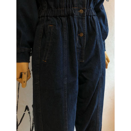 lady's 1990's vintage denim all-in-one