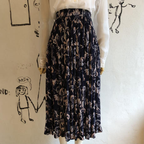 lady's floral pattern skirt
