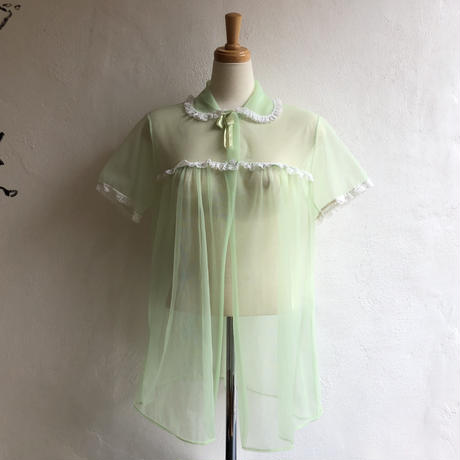 lady's pastel green lingerie gown