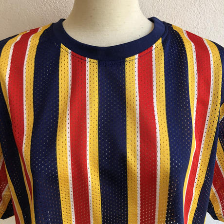 lady's colorful mesh croped tops