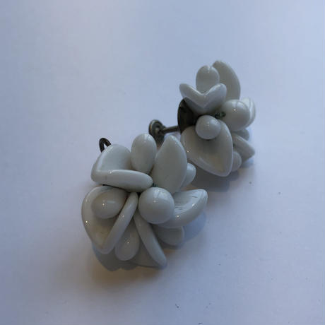 lady's white color earring