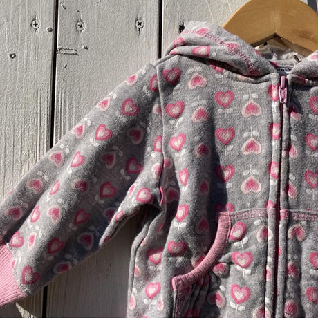 kids heart zip up parka(12M/80cm)