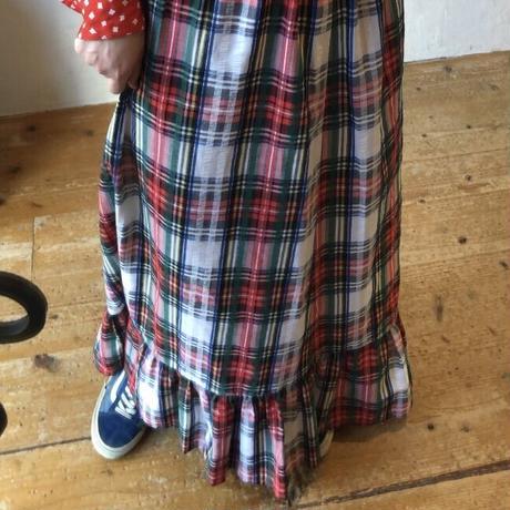 lady's plaid pattern skirt