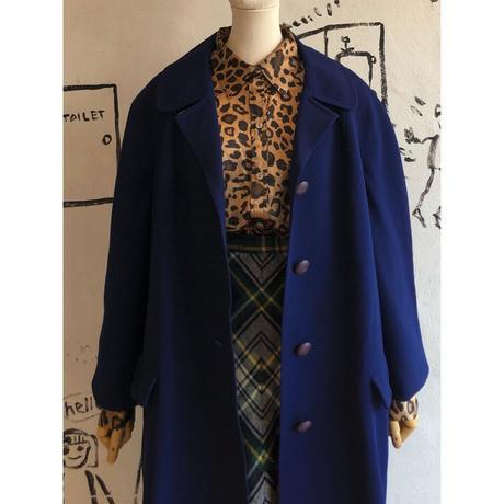lady's navy color coat