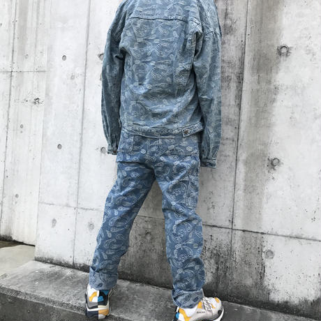 WOSS.official/Paisley denim overall