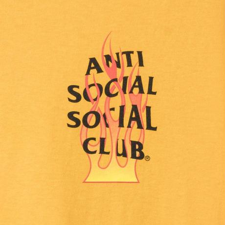 Anti Social Social Club/FLAME Logo Long Sleeve  Yellow