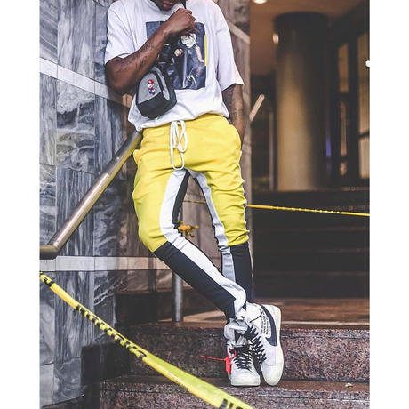 EPTM/トラックパンツ バイカラー Yellow×Black