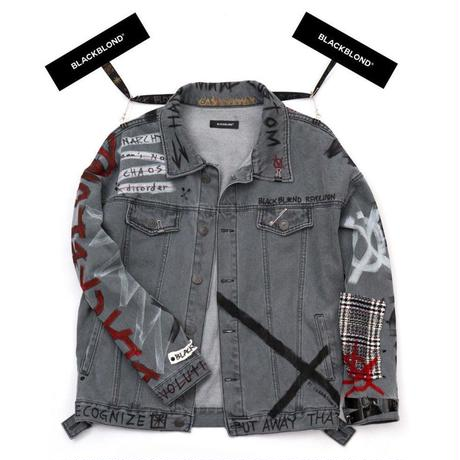 BLACK BLOND/CUSTOM Denim Jacket(GREY)