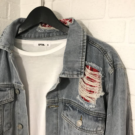 BOOHOO /BANDANA Denim Jacket