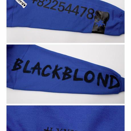 BLACK BLOND/CUSTOM Paint Hoodie  BLUE