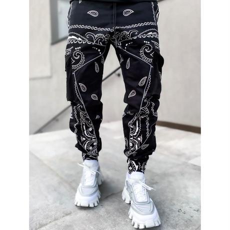 "GUAPI/ Paisley cargo pants V2 ""BLACK"""