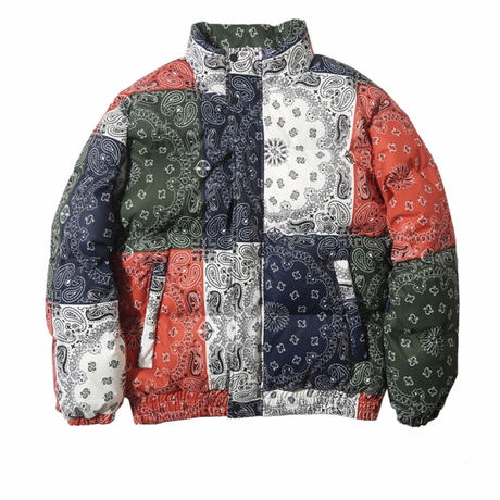 WOSS.official/BANDANA  DOWN JACKET   MIX COLOR