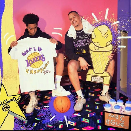 NBA × After School Special/ LAKERS Longsleeve  Tshirts
