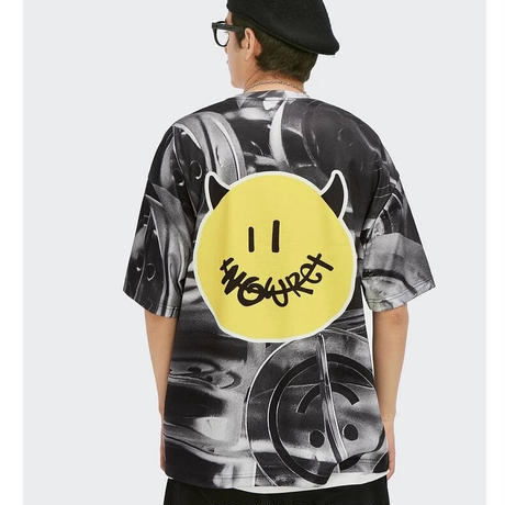 WOSS.official/Oversized Big Smile Tshirs