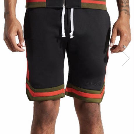 Karter Collection/shorts BLACK ×RED,GREEN