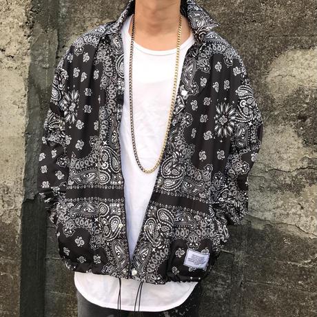 BOOHOO × Migos /BANDANA Coach Jacket BLACK
