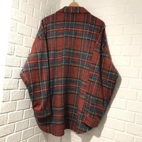 Mismatch NYC/Oversized Flannel shirts  RED