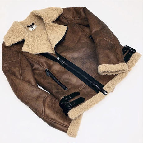 Reason Clothing Newyork/BOA riders jacket  BROWN