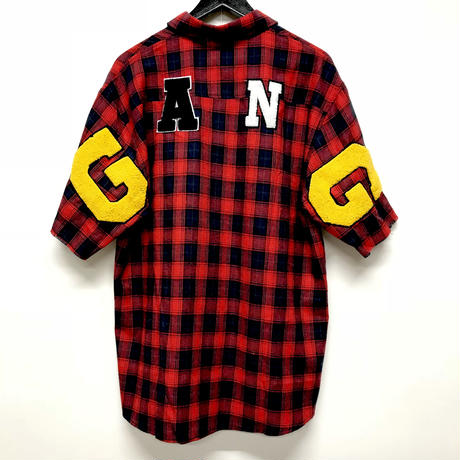 Mismatch NYC/G.A.N.G  half sleeve shirts  レッド
