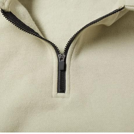 "ESSENTIALS  fear of god /HALF ZIP pullover ""SAGE"""