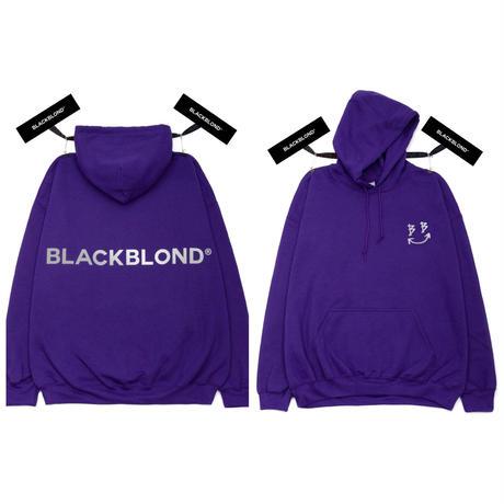 BLACK BLOND/BB logo smile  Hoodie  PURPLE