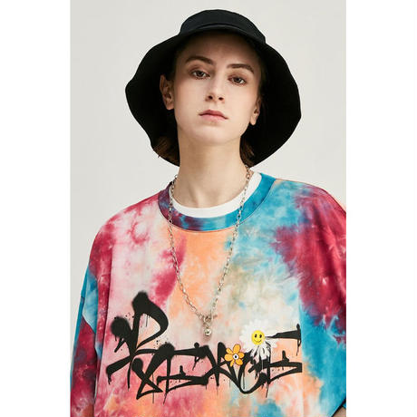 WOSS.official/TieDie  smile  Oversized  Tee  MIX COLOR