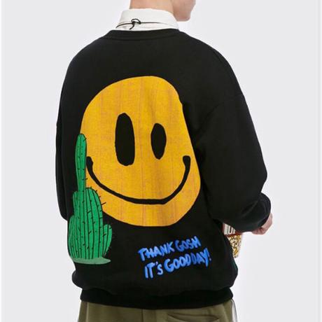 WOSS.official/Smile cuctus Crewneck