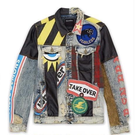 Reason Clothing Newyork/Crazed denim Jacket