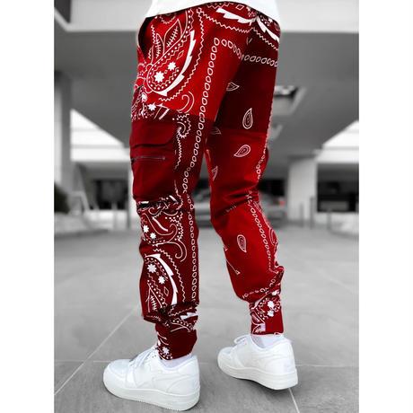 "GUAPI/ Paisley cargo pants V2 ""Blood RED"""