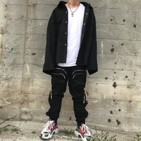 URKOOL/CARGO Pants V5ーBLACK