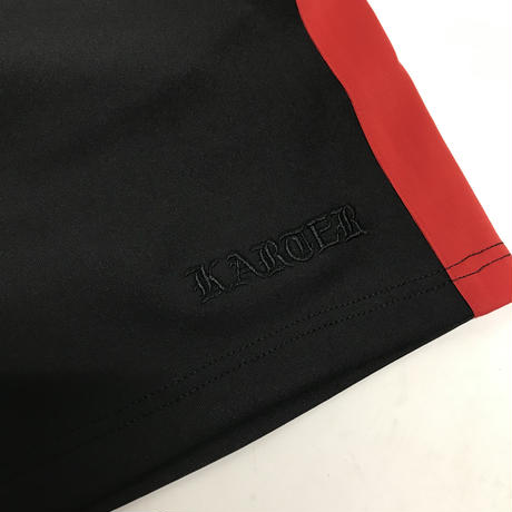 Karter Collection/shorts BLACK ×RED