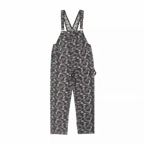 WOSS.official/Paisley denim overall BLACK