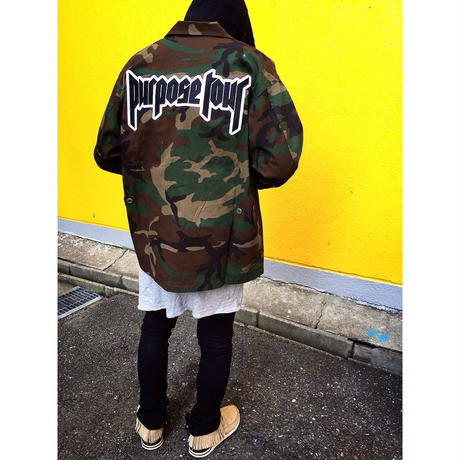 Purpose tour/Justin bieber official Camo Jacket